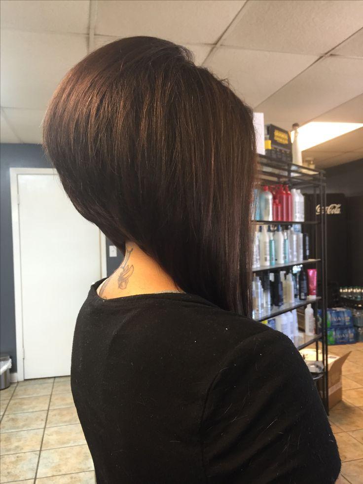 long angled bob haircut tutorial