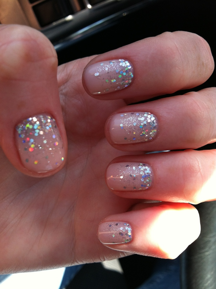 glitter fade nails tutorial