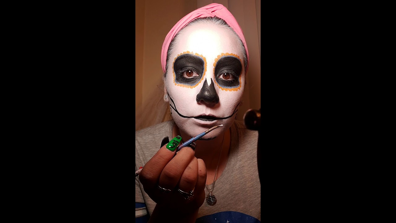 youtube sugar skull makeup tutorial