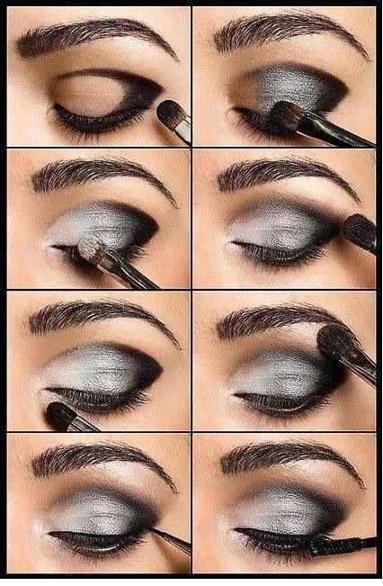 black eyeshadow makeup tutorial