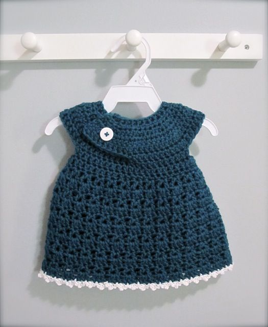 crochet baby dress tutorial