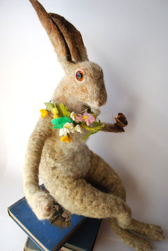 needle felted hare tutorial