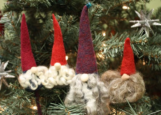 needle felted christmas ornaments tutorial