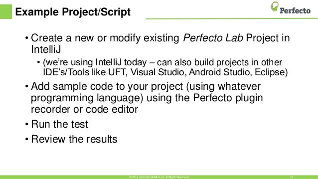 perfecto mobile automation tutorial pdf