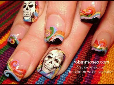 eyeshadow nail art tutorial