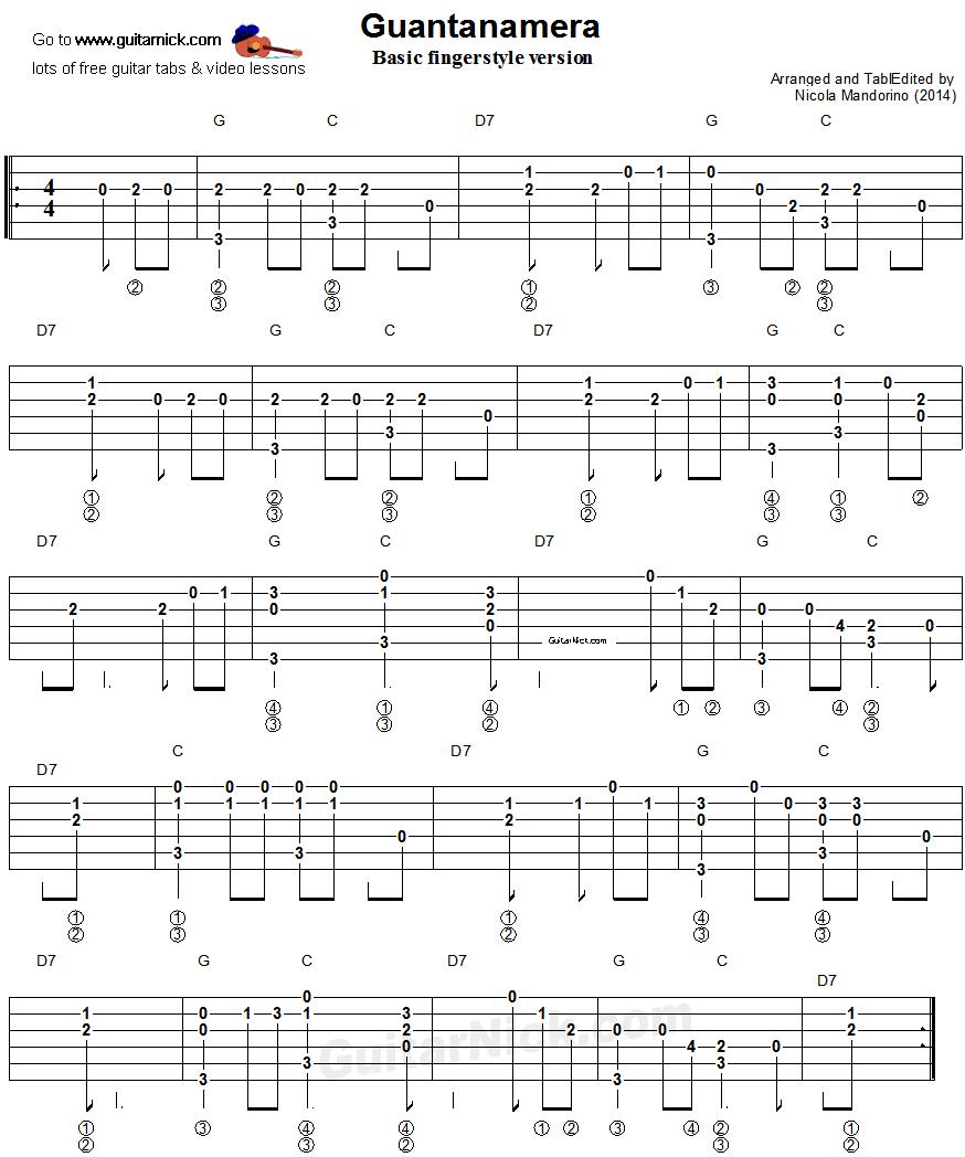 havana fingerstyle guitar tutorial