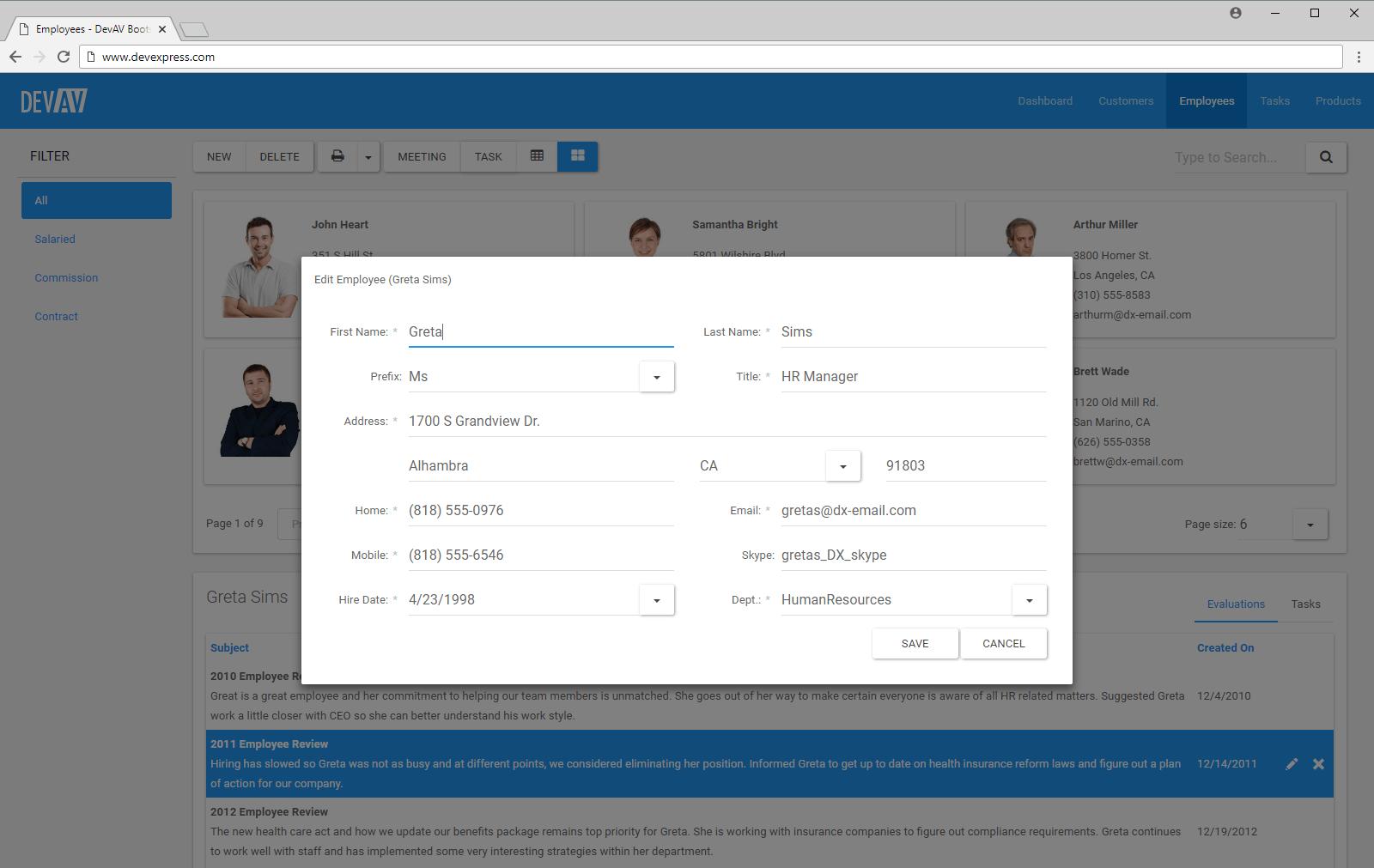 devexpress asp net tutorial