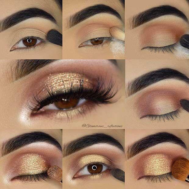 blue glitter eyeshadow tutorial