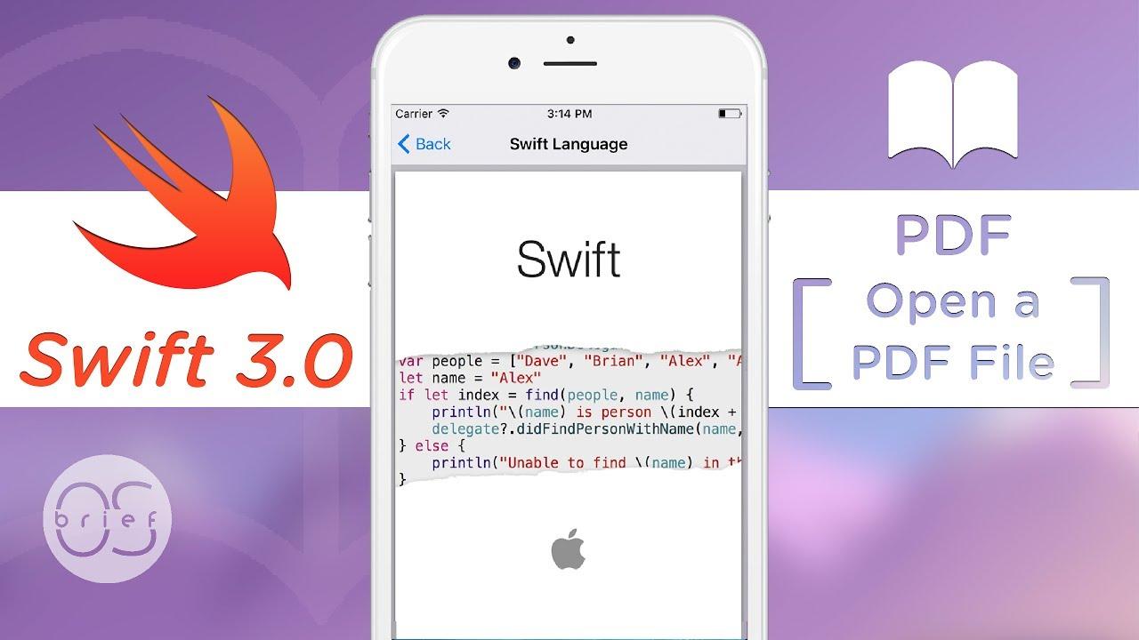swift 3 tutorial pdf