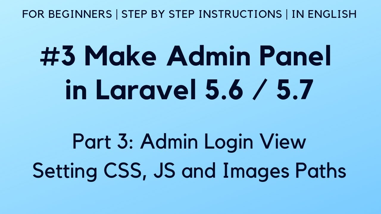 laravel 5 login tutorial