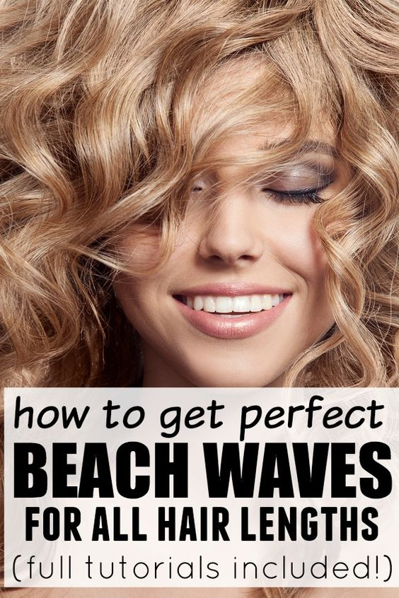 beach wave tutorial short hair