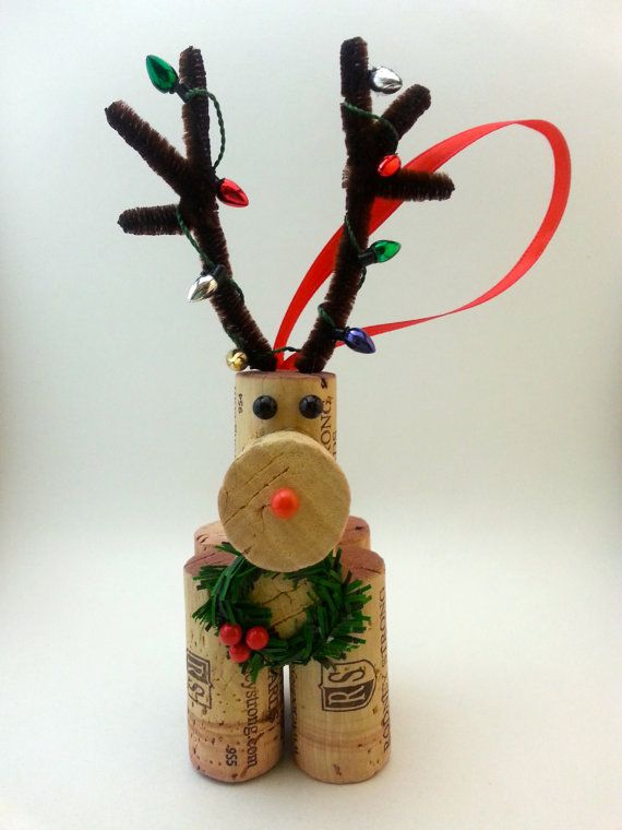 wine cork reindeer tutorial