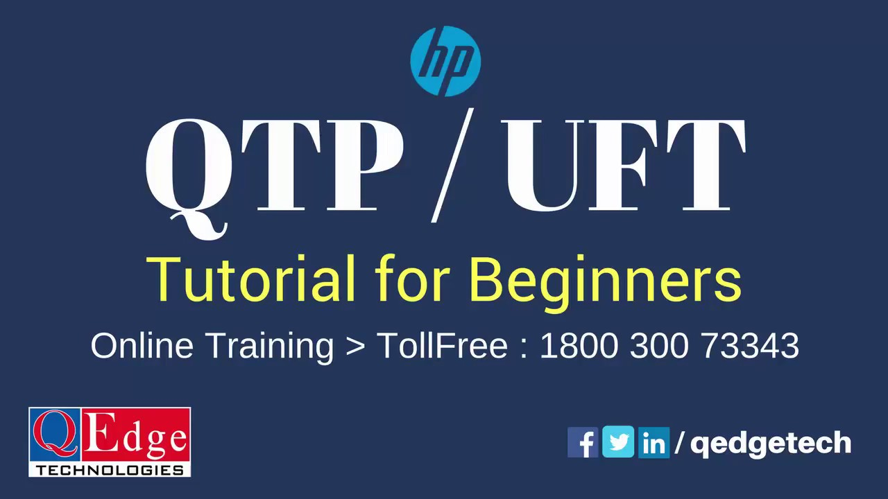 qtp tutorial for beginners