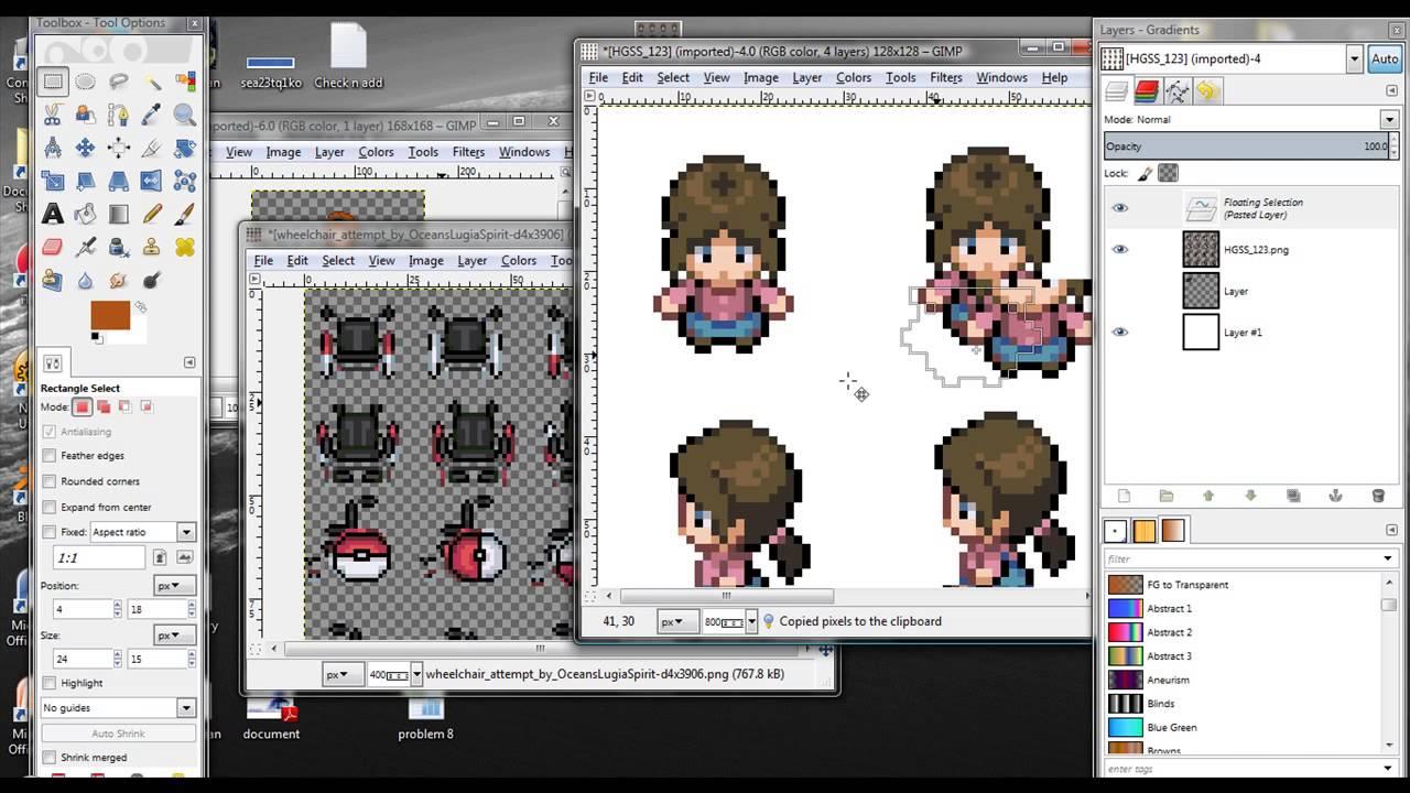 gimp pixel art tutorial