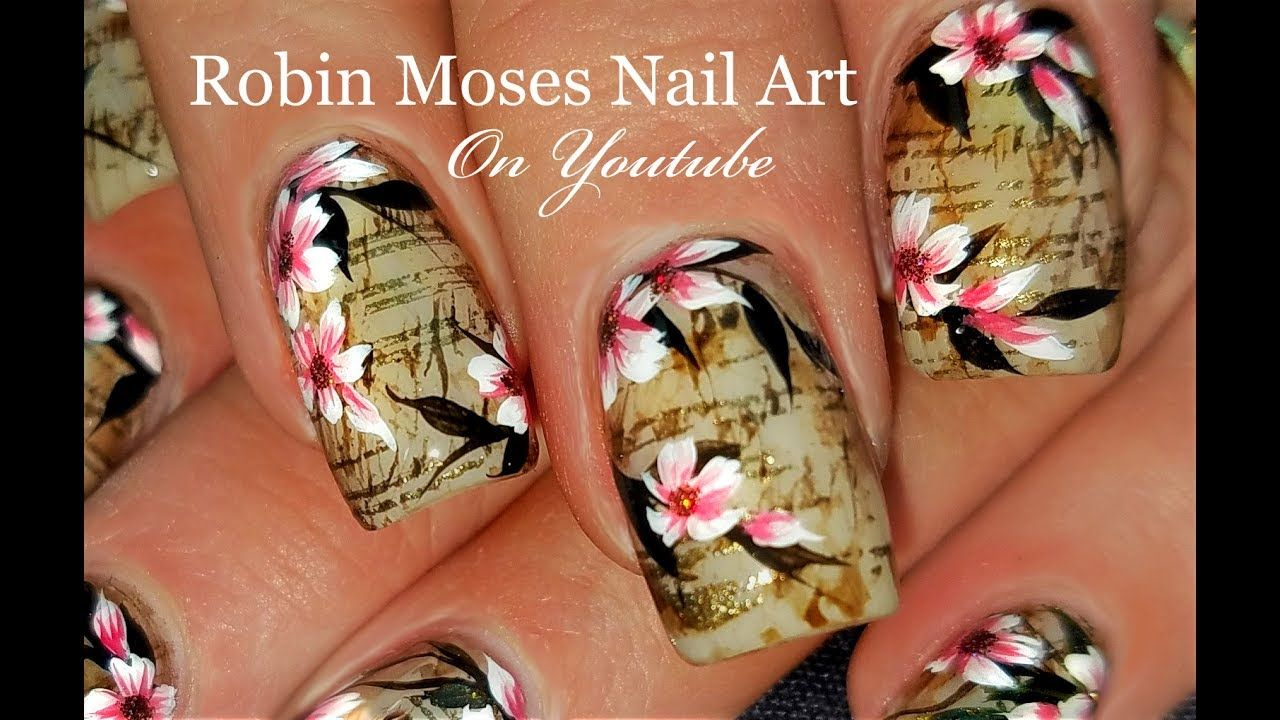 flower nail art designs tutorial