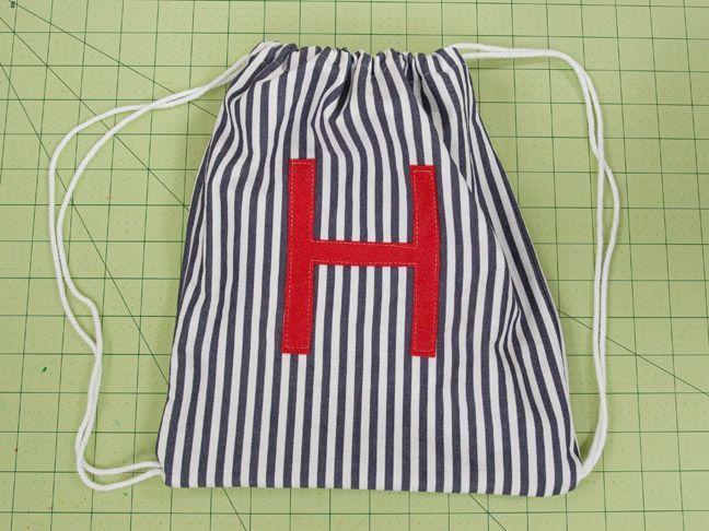 how to make a drawstring bag tutorial