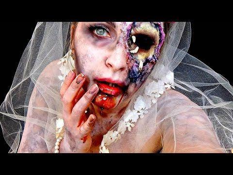 zombie bride makeup tutorial
