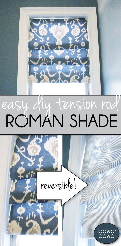 easy roman shade tutorial