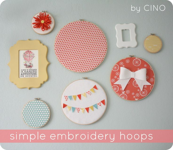 embroidery hoop wall art tutorial