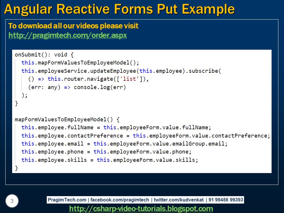 angular reactive forms tutorial