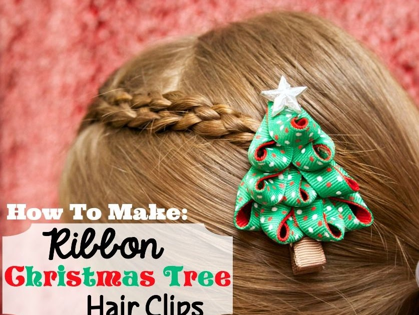 ribbon on christmas tree tutorial