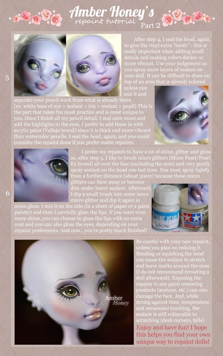 monster high faceup tutorial