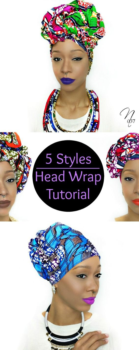 hemp hair wrap tutorial