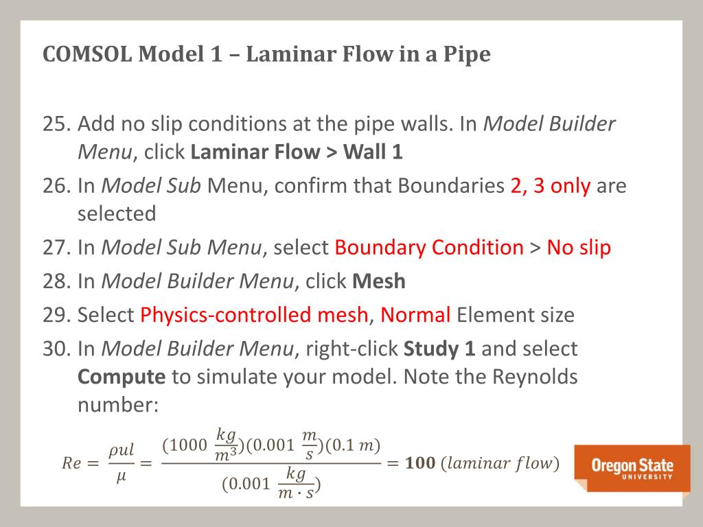 comsol laminar flow tutorial