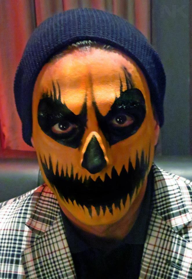 pumpkin face paint tutorial