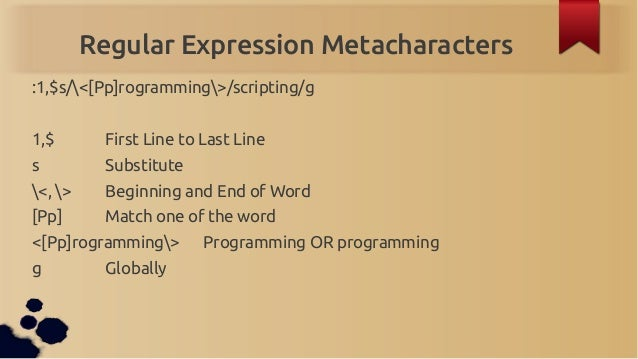bash regular expression tutorial