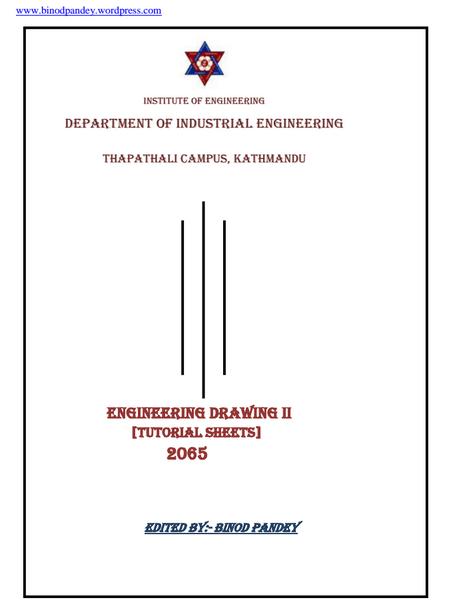 engineering drawing tutorial pdf