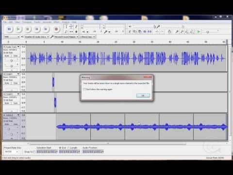 audacity vocal remover tutorial