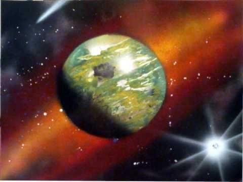 spray paint galaxy art tutorial