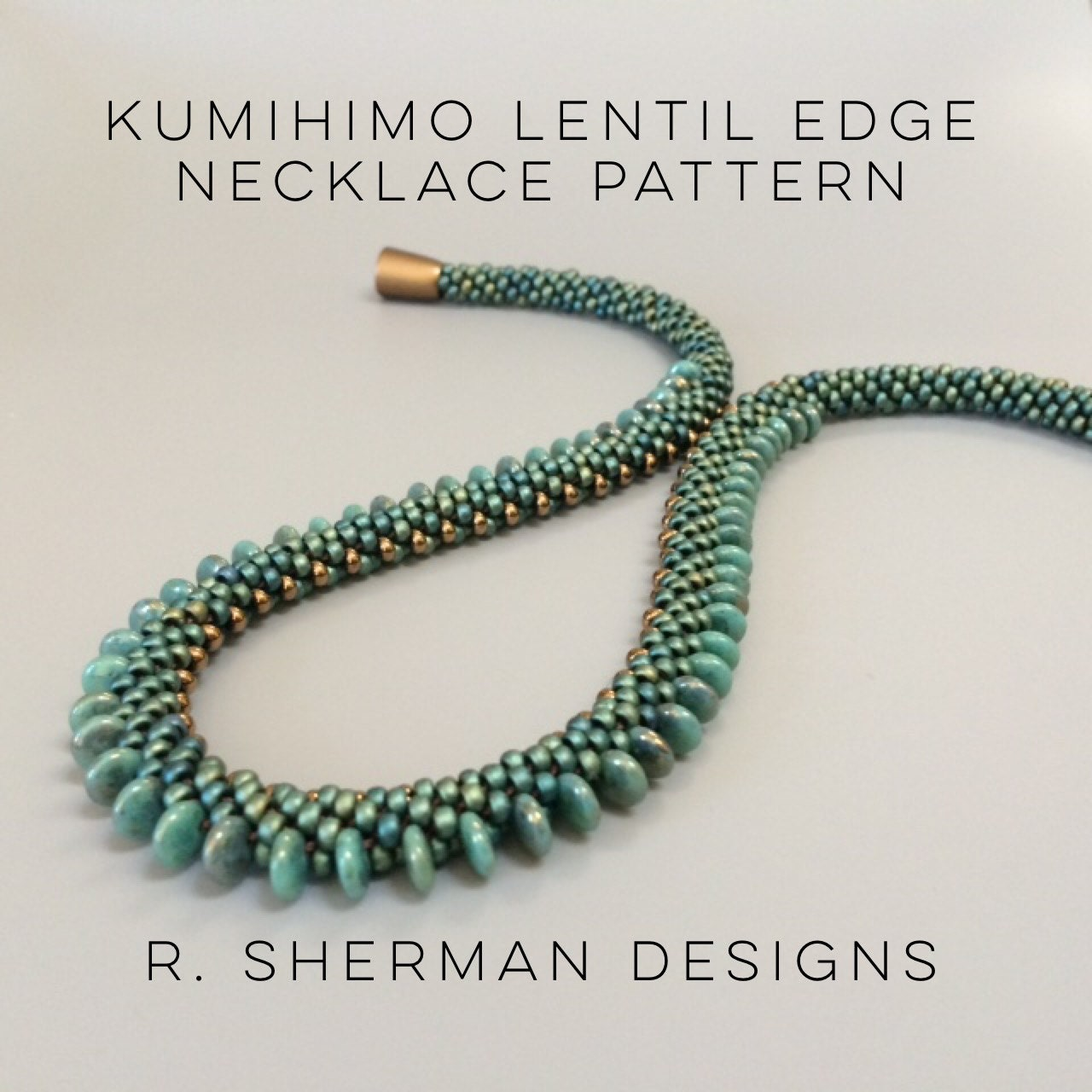 kumihimo beaded necklace tutorial