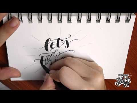 hand lettering tutorial youtube