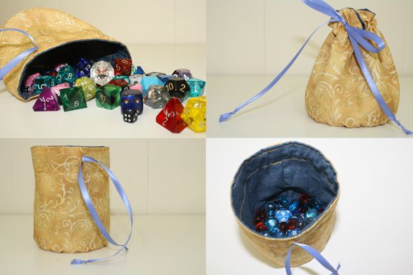 round drawstring bag tutorial