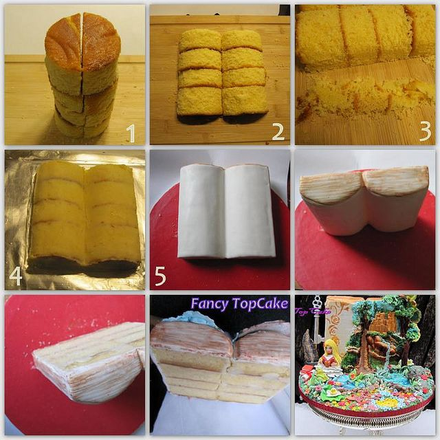 closed bible cake tutorial