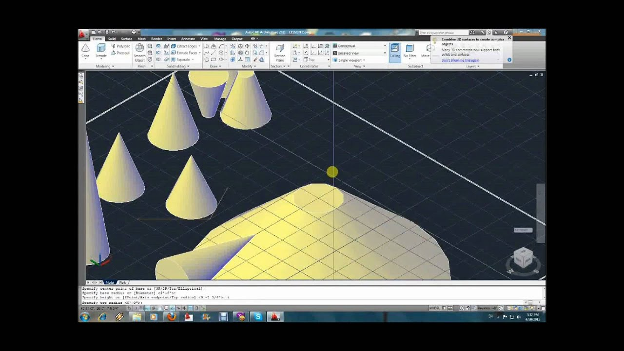 autocad 3d tutorial youtube