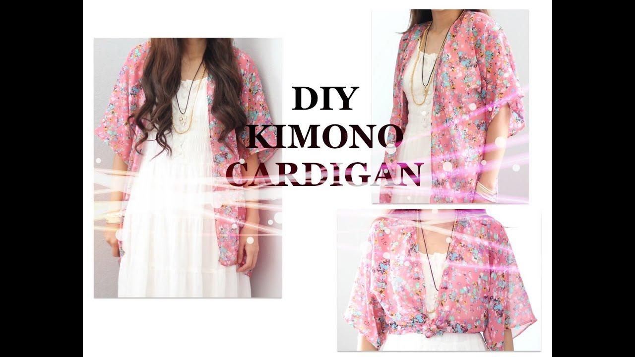 diy kimono cardigan tutorial