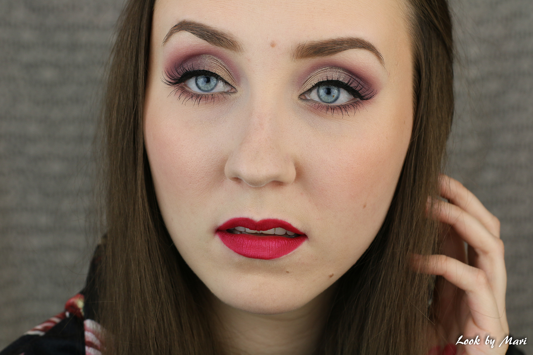hot pink lips makeup tutorial
