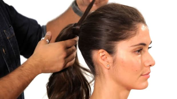volumized ponytail hair tutorial