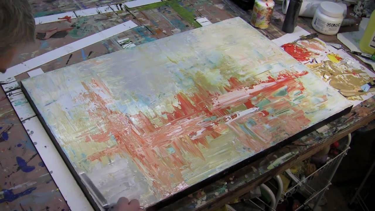 palette knife painting tutorial