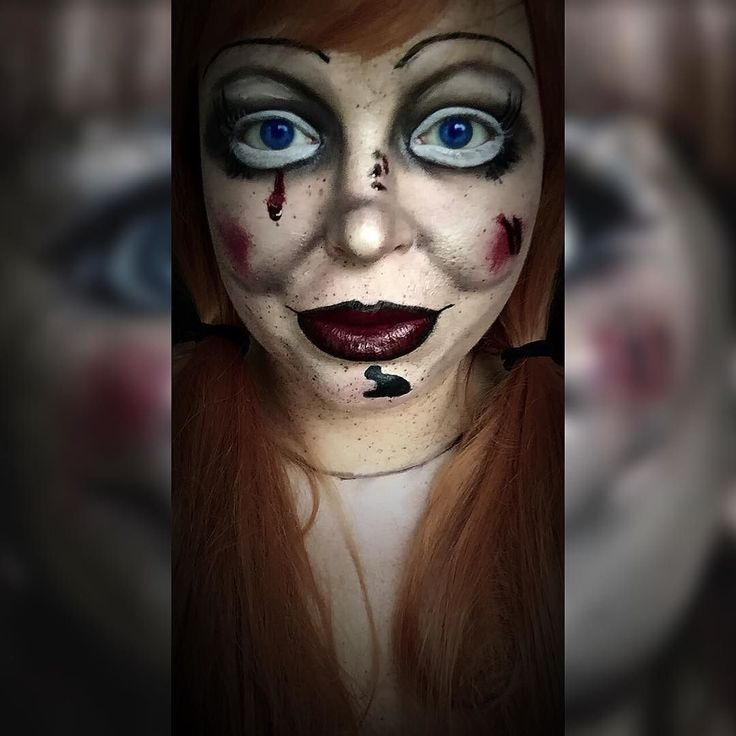 scary doll makeup tutorial