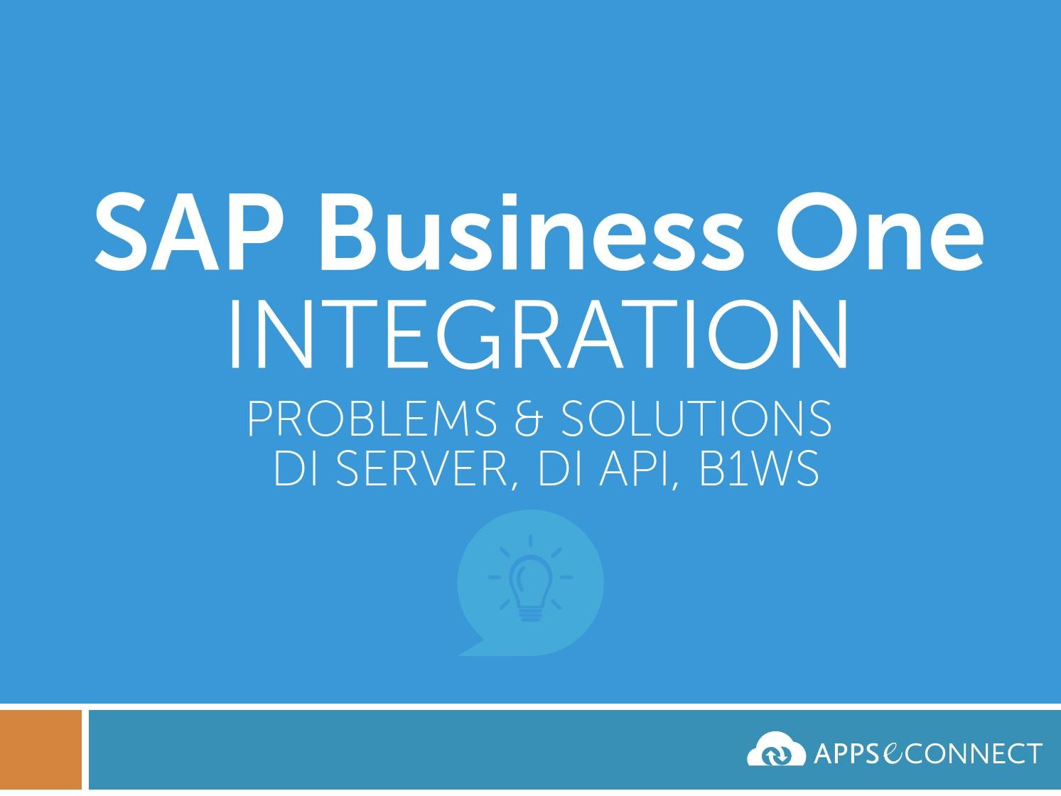sap business one di api tutorial