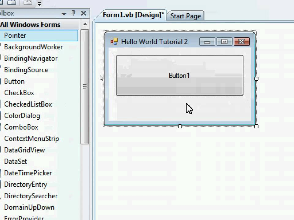 visual basic 2008 express edition tutorial