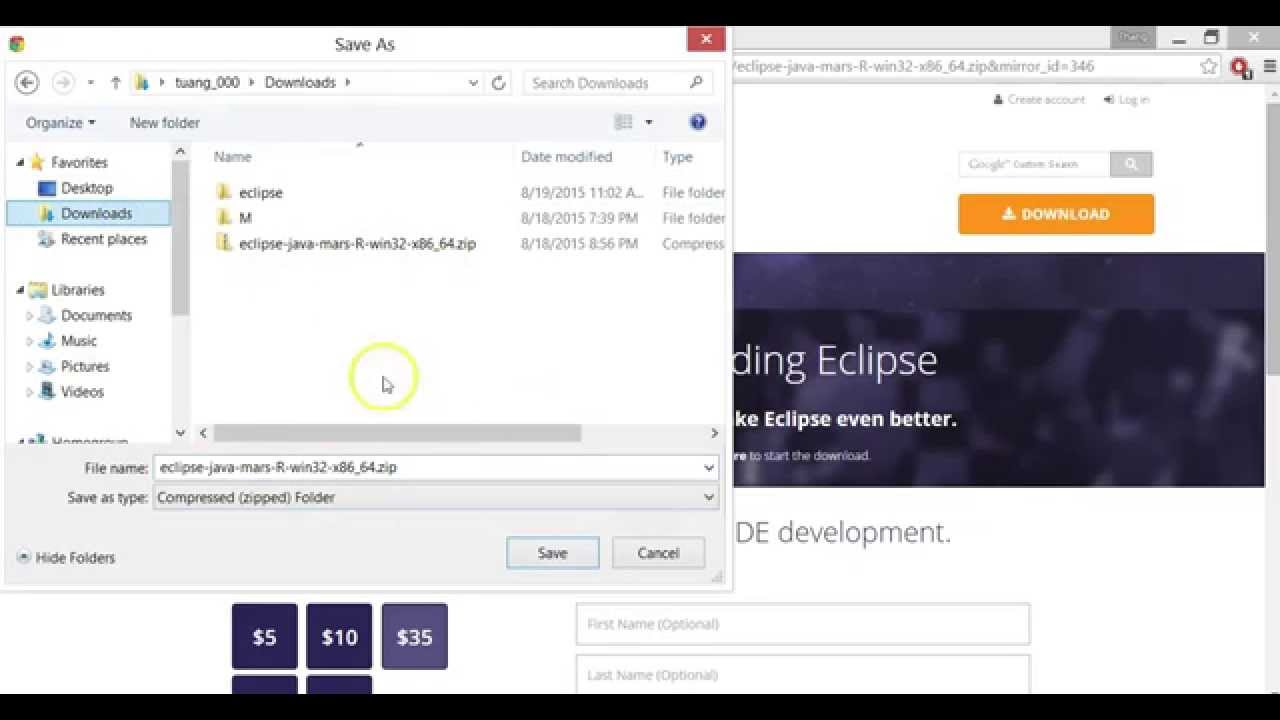 eclipse java tutorial hello world