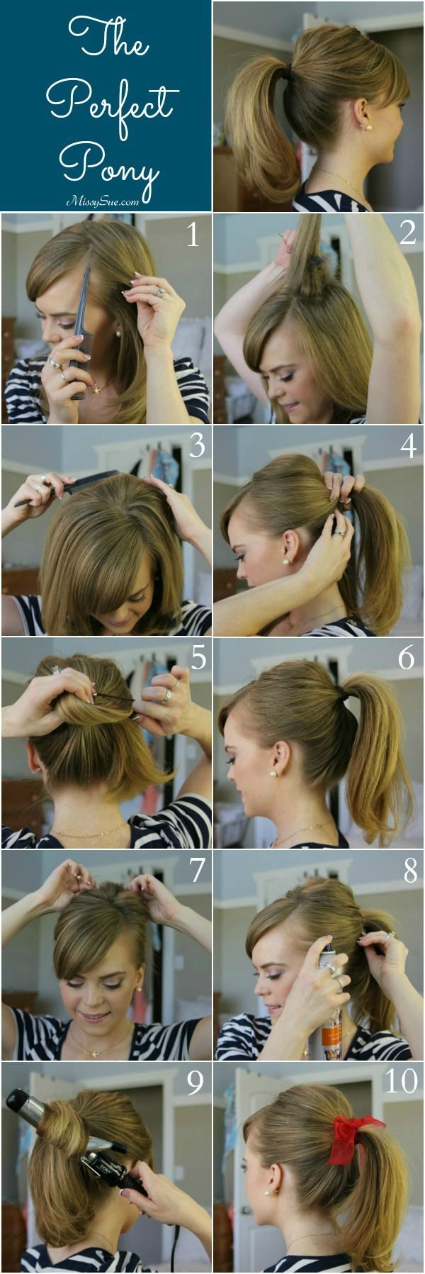 deep side part tutorial