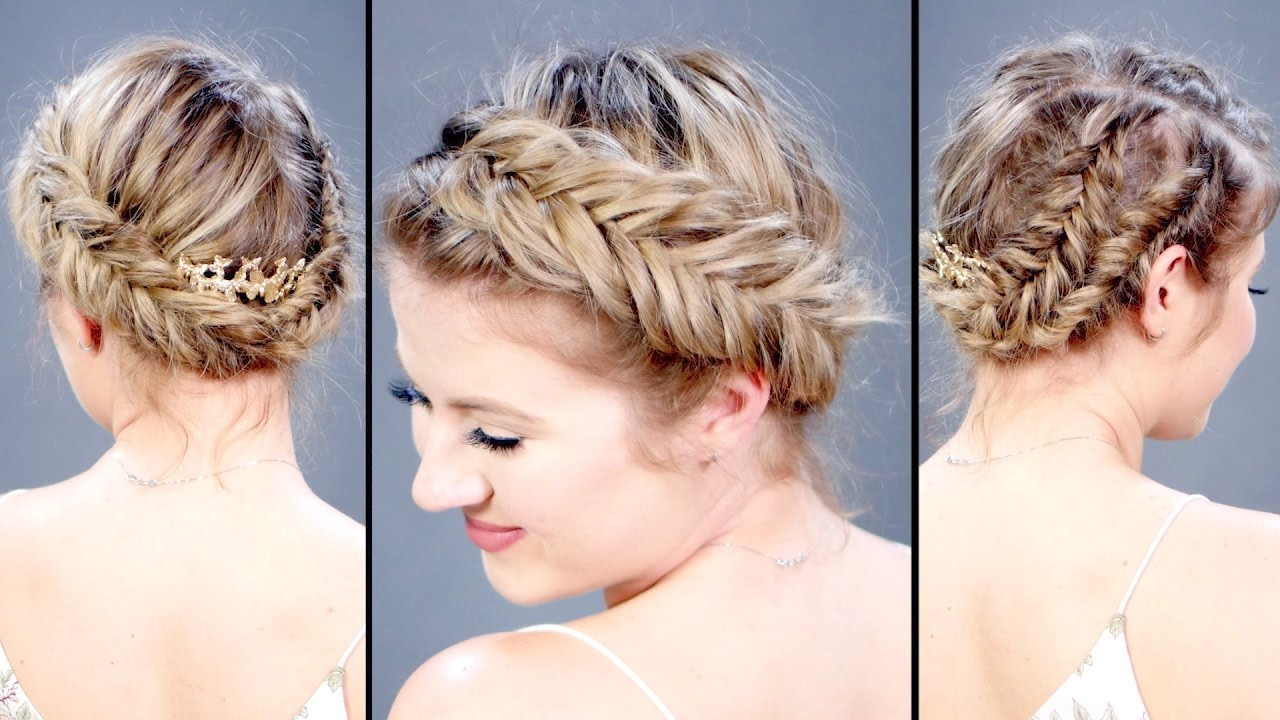 space buns short hair tutorial