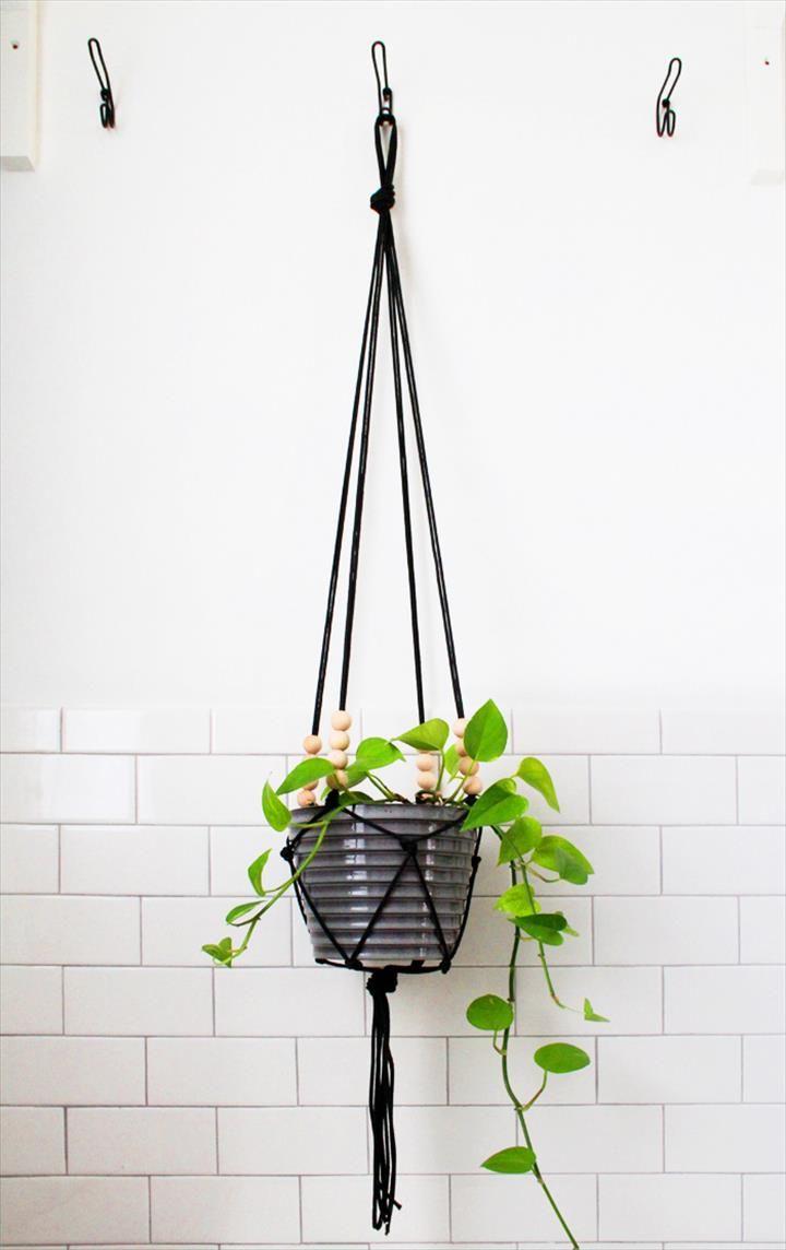 macrame hanging pot tutorial
