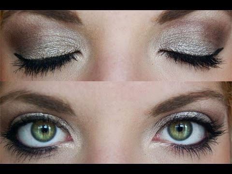 smokey grey eye makeup tutorial
